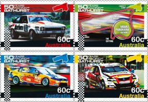 Почтовые марки Австралии с гоночными автомобилями