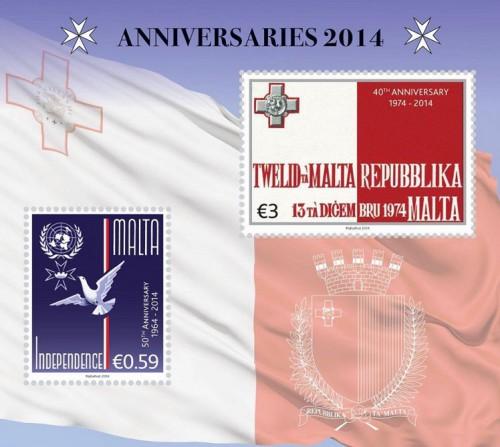 почтовый блок Мальты
