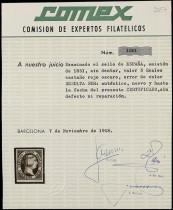 Сертификат почтовой марки Испании