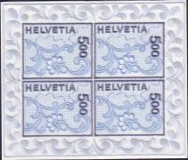 вышитая марка Швейцарии